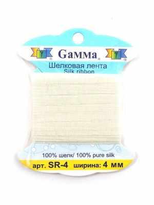 Ленты Gamma SR-4 4 мм. Тесьма декоративная №006 молочный
