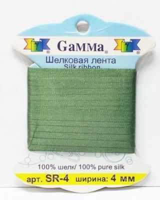 Ленты Gamma SR-4 4 мм. Тесьма декоративная №220 гр.зеленый