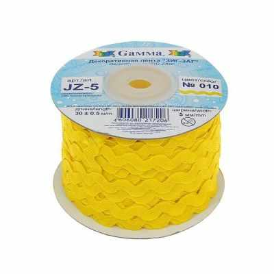 Ленты Gamma JZ-5 Тесьма отделочная 5 мм №010 желтый