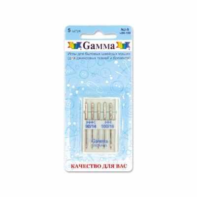 Иглыбулавки Gamma NJ-5 №90-100 Иглы для быт.шв.машин