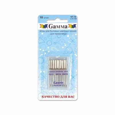 Иглыбулавки Gamma NT-10 №75-100 Иглы для быт.шв.машин