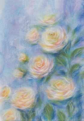 WA-0114 набор  Очарование роз  - Товары для валяния (фелтинга)