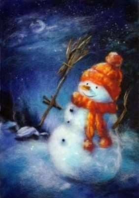 695384  Снеговик  - Товары для валяния (фелтинга)