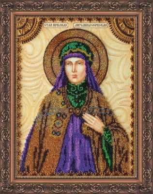 АА-078 Набор для вышивания бисером икона  Св. Ангелина  - Наборы для вышивки икон «Абрис-Арт»