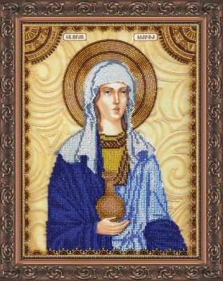 АА-094 Набор для вышивания бисером икона  Св. Марфа  - Наборы для вышивки икон «Абрис-Арт»