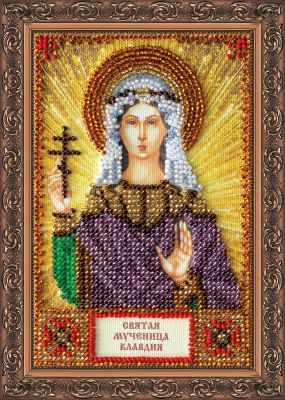 ААМ-092 Набор для вышивания бисером икона  Св. Клавдия  - Наборы для вышивки икон «Абрис-Арт»