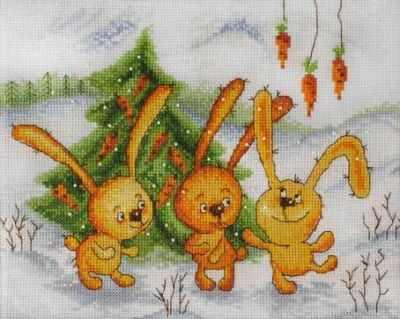 15.001.05 Заячья радость (МИ) - Наборы для вышивания «Марья Искусница»