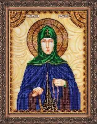 АА-100 Набор для вышивания бисером икона  Св.Евдокия  - Наборы для вышивки икон «Абрис-Арт»