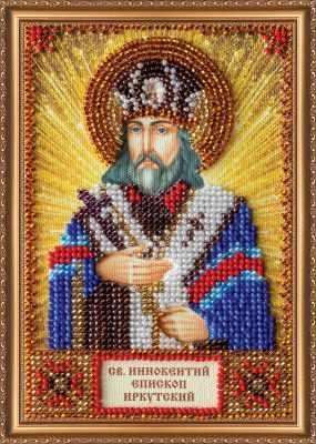 ААМ-104 Набор для вышивания бисером икона  Св. Иннокентий  - Наборы для вышивки икон «Абрис-Арт»