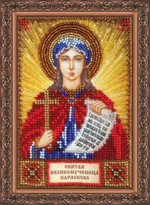 ААМ-107 Набор для вышивания бисером икона  Св. Параскева (Прасковья)  - Наборы для вышивки икон «Абрис-Арт»