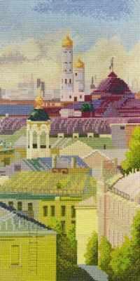 09.007.09 Вид на колокольню (МИ) - Наборы для вышивания «Марья Искусница»