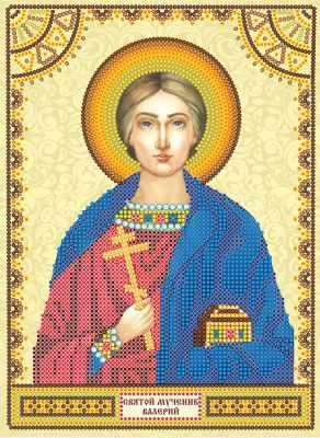 Основа для вышивания с нанесённым рисунком Абрис Арт АСК-055 Святой Валерий - схема для вышивания (Абрис Арт)