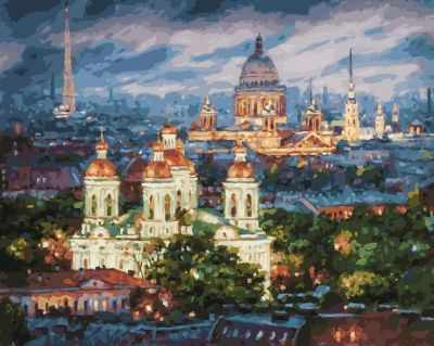 Набор для рисования по номерам Белоснежка 201-AB Все краски вечера. Санкт-Петербург. (Белоснежка)