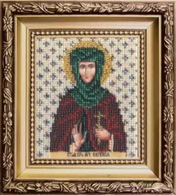 Б-1098  Икона святой мученице Евгении   чм - Наборы для вышивания икон «Чарiвна Мить»