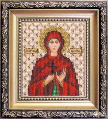 Б-1099  Икона святой мученицы Валерии   чм - Наборы для вышивания икон «Чарiвна Мить»