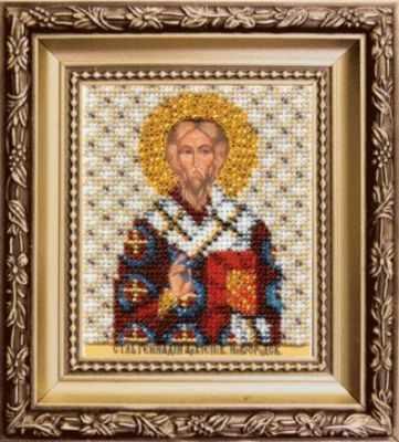 Б-1124  Икона святого архиепископа Новгородского Геннадия   чм - Наборы для вышивания икон «Чарiвна Мить»