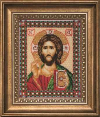 Б-069  Икона Господа Иисуса Христа   чм - Наборы для вышивания икон «Чарiвна Мить»