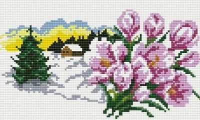 102-ST-S В ожидании весны  мозаика на подрамнике (Белоснежка) - Мозаика «Белоснежка»