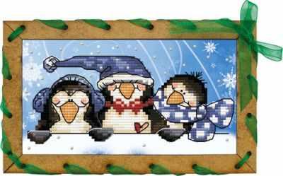 ОР 7504 Пингвинчики - Наборы для вышивания «Nova Sloboda»