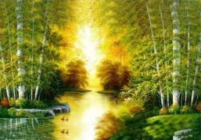 СК648  Река в лесу  - Мозаика «ИМПЕРИЯ БИСЕРА»