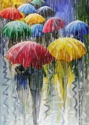 СК649  Цветные зонтики  - Мозаика «ИМПЕРИЯ БИСЕРА»