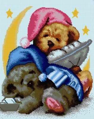 СК655  Спящие мишки  - Мозаика «ИМПЕРИЯ БИСЕРА»
