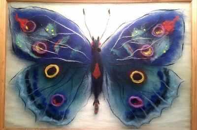 SH033 Бабочка  Артемида  - Товары для валяния (фелтинга)
