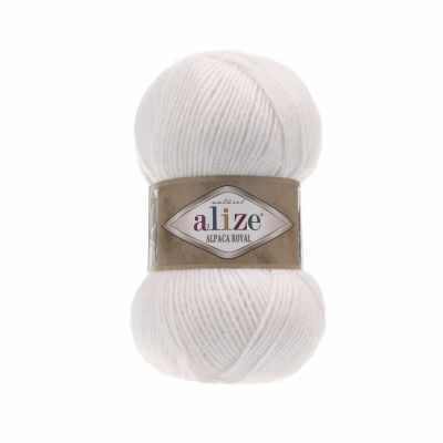 Пряжа Alize Пряжа Alize Alpaca Royal Цвет.55 Белый