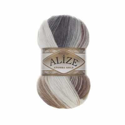 Пряжа Alize Пряжа Alize Angora Gold Batik Цвет.5742 Бел.коричн.серый