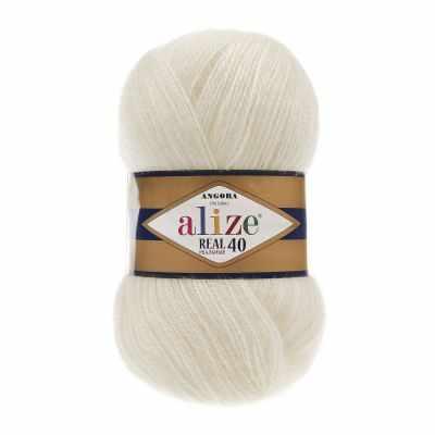 Пряжа Alize Angora Real 40 Цвет.450 Жемчужный