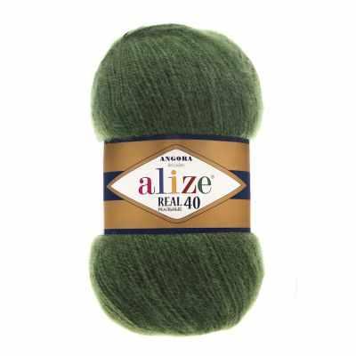 Пряжа Alize Angora Real 40 Цвет.563 Т.Зеленый