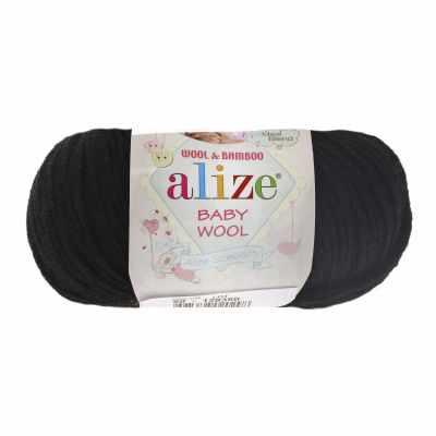 Пряжа Alize Пряжа Alize Baby Wool Цвет.60 Черный