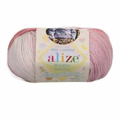 Пряжа Alize Пряжа Alize Baby Wool Batik Цвет.3565 Роз.меланж