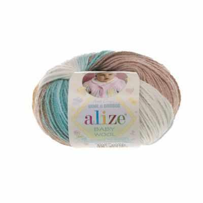 Пряжа Alize Пряжа Alize Baby Wool Batik Цвет.6320 Бел.кор.голуб