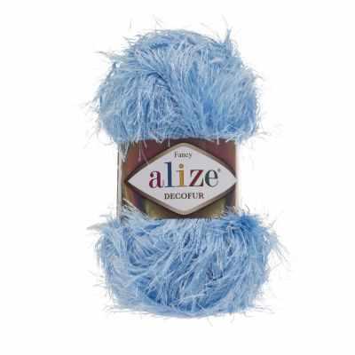 Пряжа Alize Пряжа Alize Decofur Цвет.40 Голубой