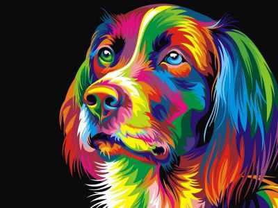 304001010  Радужный пес  Ваю Ромдони - Картины из песка