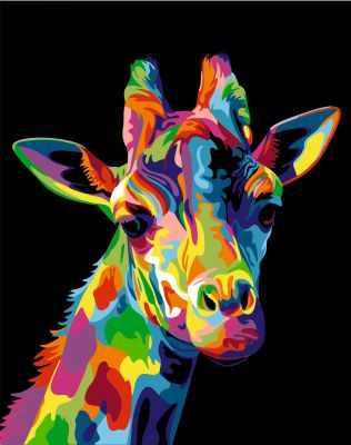 304001013  Радужный жираф  Ваю Ромдони - Картины из песка