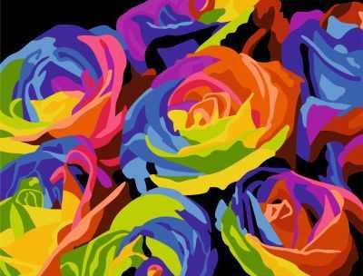 304001028 Радужные Розы - Картины из песка