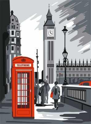 304002002 Лондон будка - Картины из песка