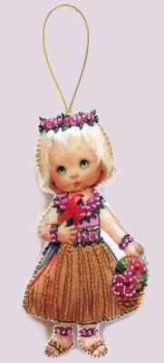 Набор для изготовления изделий из фетра Butterfly F057 Кукла. Гавайи -