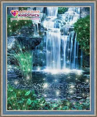 Фото - Алмазная мозаика Алмазная живопись Алмазная вышивка Искрящийся водопад (АЖ-1496)- картина стразами картина модульная картиномания водопад 90 х 57 см