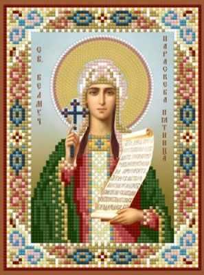 1Нбис-051 Св. Параскева Пятница-набор - Наборы для вышивания икон «Художественные мастерские»