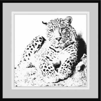 1НКЦ-004 Леопард-набор - Наборы для вышивания «Художественные мастерские»