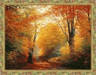 1НКЦ-008 Осенняя дорога-набор - Наборы для вышивания «Художественные мастерские»