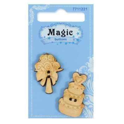 Декоративные элементы и украшения для скрапбукинга Magic Buttons BBL018-MX-P Набор пуговиц Торт