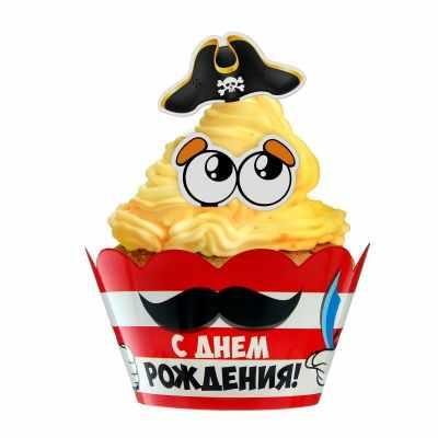 1594067 Набор для украшения кексов Смелый пират