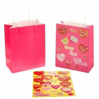 Подарочный конверт - 176349 Пакет крафт с декоративными наклейками С любовью пакет подарочный крафт 26 32 13 см бумага