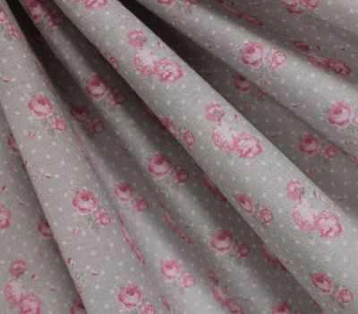 AM606002 Ткань Снежные розы и горох№2