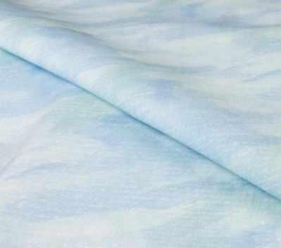 AM651018 Ткань компаньон к купонам Нежно-голубой акварельный фон