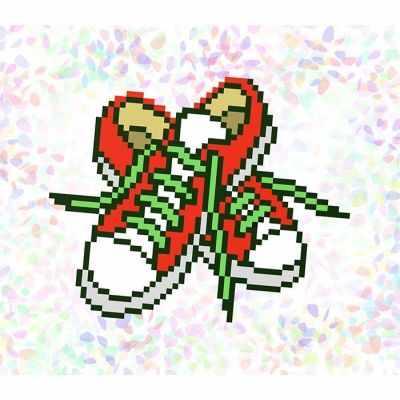 Флизелин с рисунком Confetti K107 Кеды
